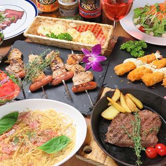 月~金曜日限定!!飲み放題120分料理8品デザート付コース